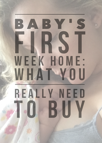 Baby's First Week Home: What You Really Need