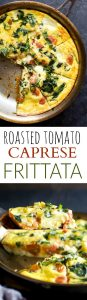 fresh basil recipes ROASTED TOMATO CAPRESE FRITTATA