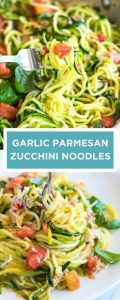 fresh basil recipes GUILT-FREE GARLIC PARMESAN ZUCCHINI NOODLES PASTA