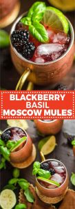 fresh basil recipes blackberry basil Moscow mule
