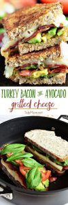 fresh basil recipes Turkey Bacon and Avocado Grilled Cheese