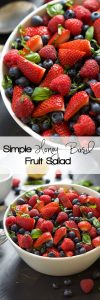 fresh basil recipes SIMPLE HONEY BASIL FRUIT SALAD
