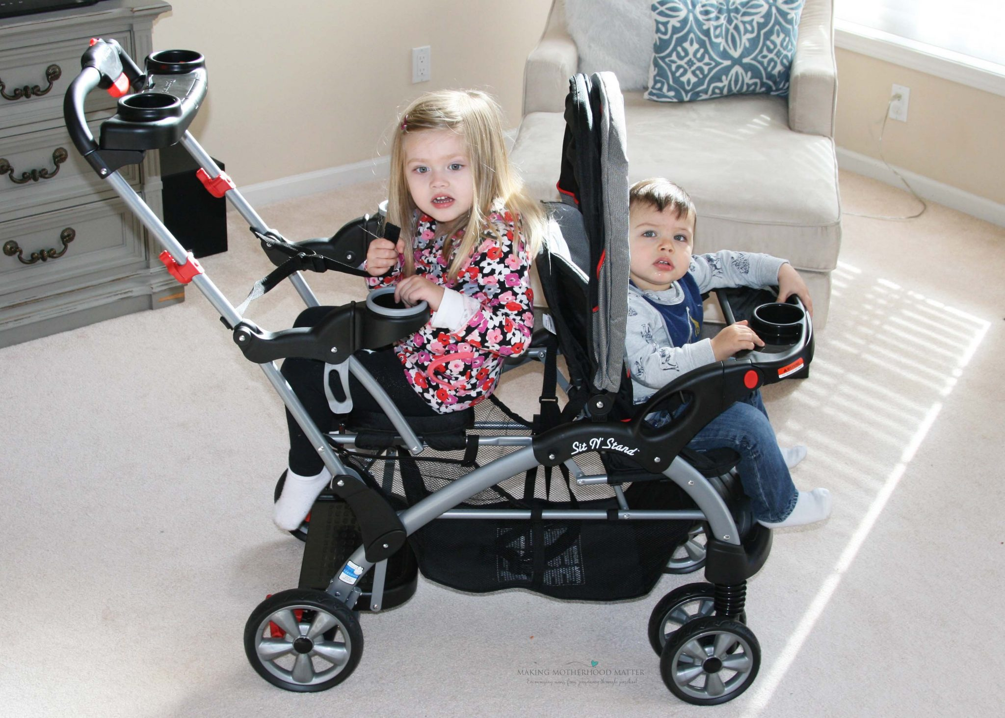 lightweight double stroller for infant and toddler