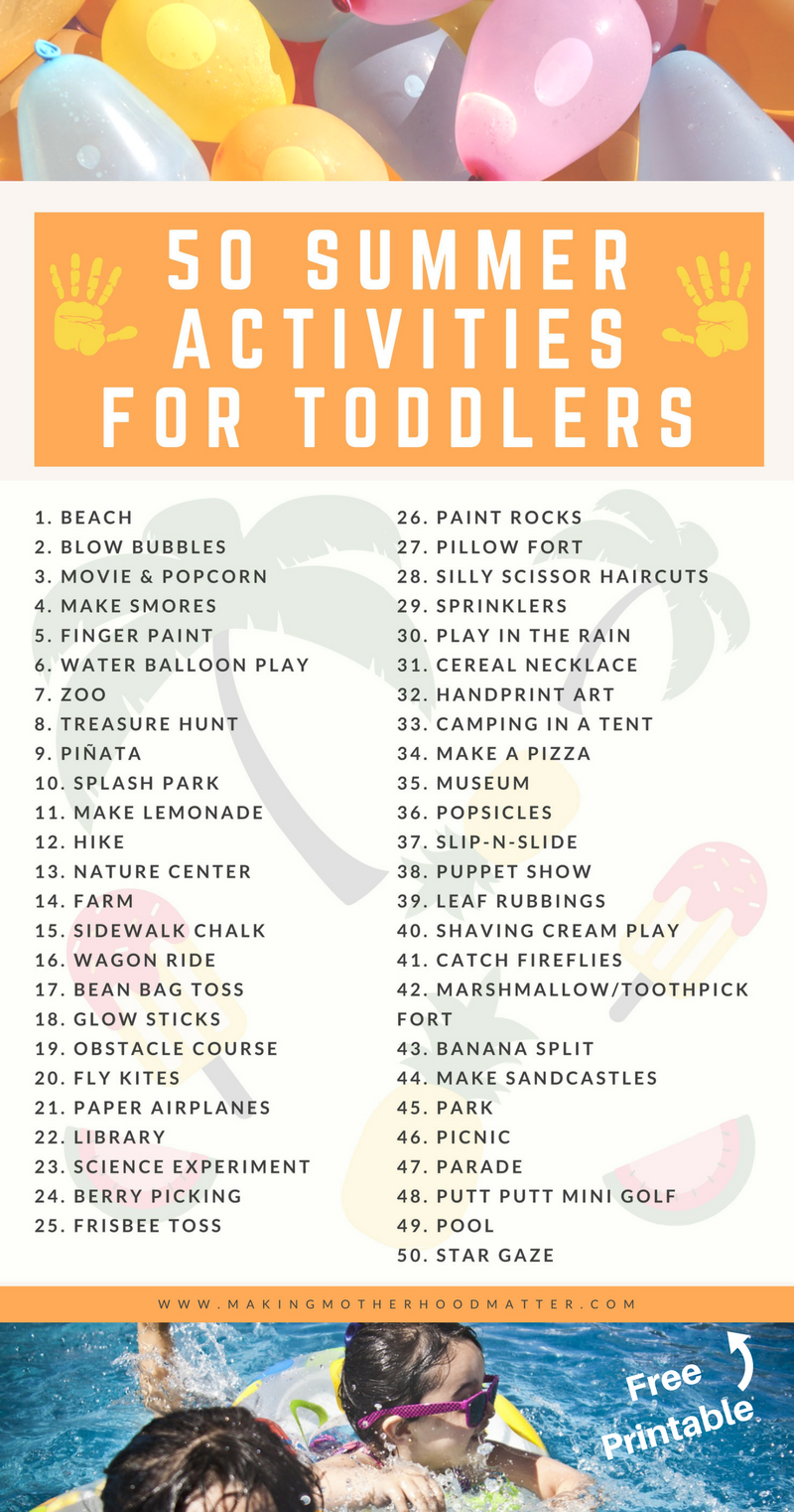 Summer Activities for Toddlers