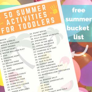 free summer bucket list for kids