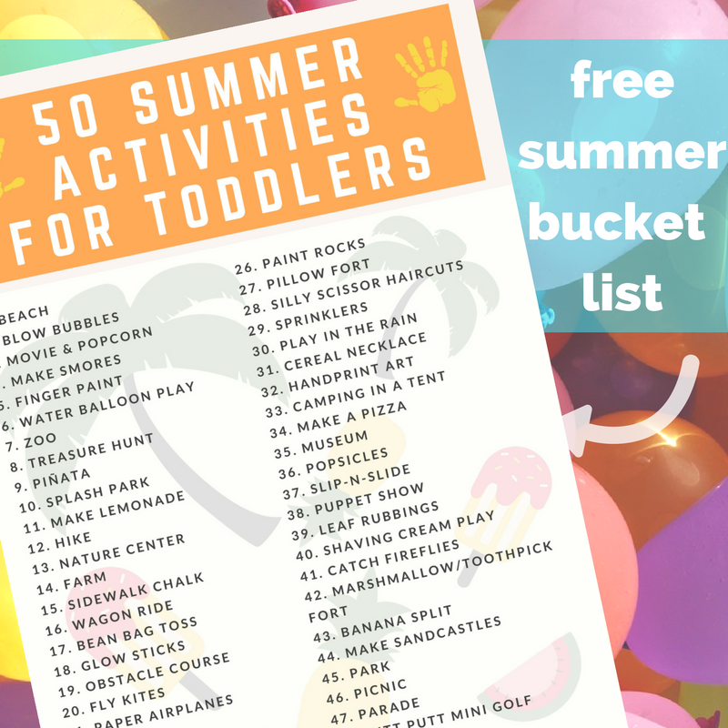 free summer bucket list for kids