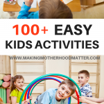 easy kids activiteis