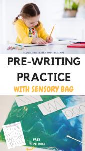 pre writing skills