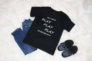 All I Do Is Play Play Play Tee, Kids t shirts girls boys