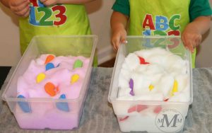 soap foam preschool activities