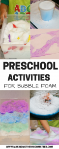 PRESCHOOL activities for bubble foam