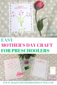 photograph about Free Printable Mothers Day Crafts named Simple Moms working day craft strategies for preschoolers that will crank out