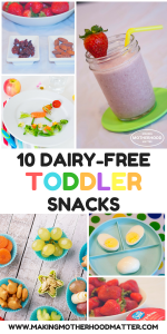 dairy free toddler snacks