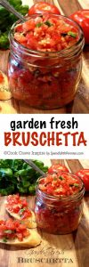 FREsh basil recipes Garden Fresh Bruschetta