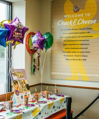 chuck e. cheese birthday party ideas