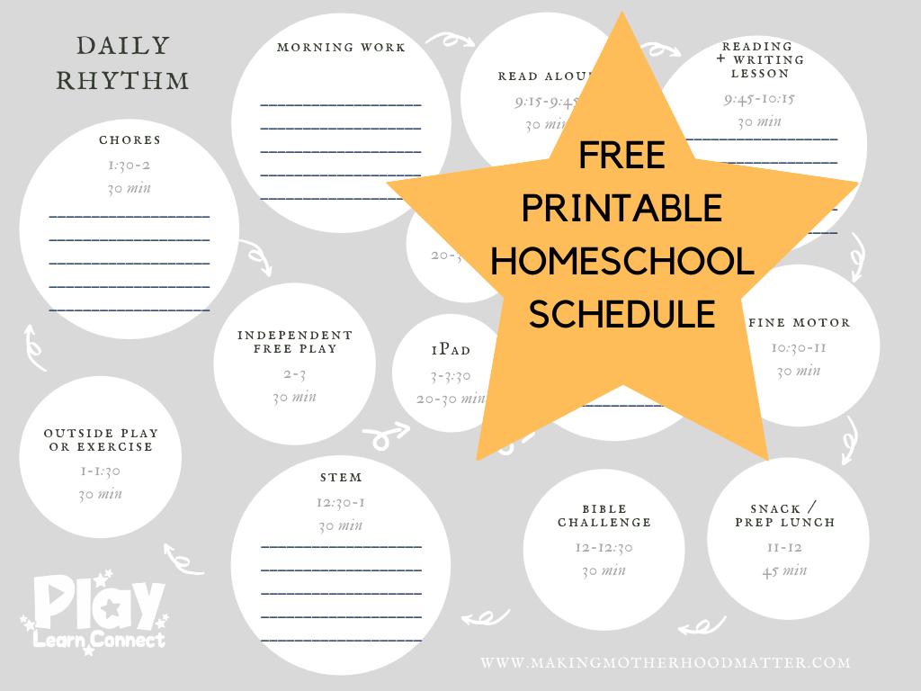 homeschool schedule