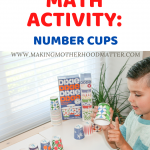 PRESCHOOL MATH ACTIVITY NUMBER CUPS